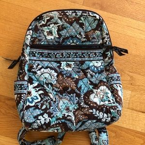 Vera Bradley blue and brown backpack